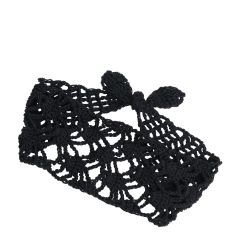 Black Mina Crochet Headband