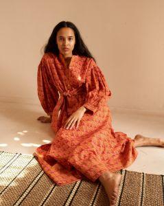 Blouse Dress ~ Ayana Peach
