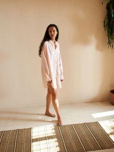 Handloom Shirt - Pink/Cream