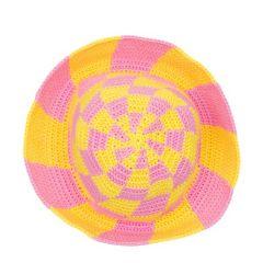 Sunny Side Swirl Check hat