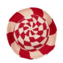 Cherry Swirl Check Hat